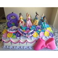 Kue Ulang Tahun Disney Princess 2 Tier Besar