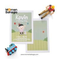 Kartu Undangan Ulang Tahun Anak Murah Premium Bagus + Bonus - 003