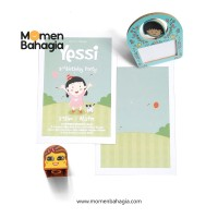 Kartu Undangan Ulang Tahun Anak Murah Premium Bagus + Bonus - 004