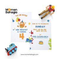 Kartu Undangan Ulang Tahun Anak Murah Premium Bagus + Bonus - 001
