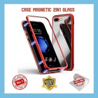 f9 oppo case magnetic 2in1 premium glass and magnet
