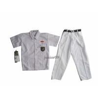 setelan seragam putih putih anak laki laki baju pendek celana panjang
