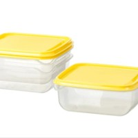 IKEA PRUTA Food container transparent yellow 0.6 l home and tools