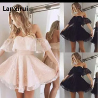 Casual Fashion Women Lace Solid Dress Prom party Cocktail Cute Summer