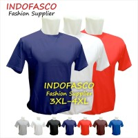 3XL / 4XL (XXXL) - Baju kaos oblong polos cowok cewek jumbo big size