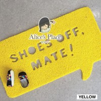 Alices Place Doormat PVC - Shoes Off Mate!