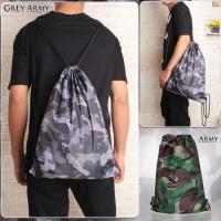 taslan Tas Serut String Bag Drawstring Bag ARMY LORENG