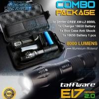senter CREE XM-L2 taffware combo package 8000 lumens