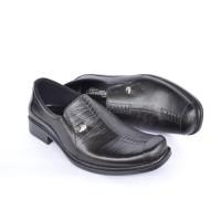 Sepatu Pantofel Pria Crocodile Sepatu Formal Sepatu Kerja - A8 Hitam C