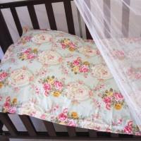Bed Cover Bayi / Selimut Bayi motif Bunga Hijau