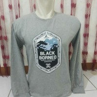 tshirt/baju/kaos/longsleve eiger black borneo