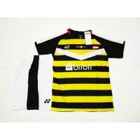 Setelan BADMINTON BULUTANGKIS Yonex Bisa untuk Kaus Tim Y.34 Black Yel
