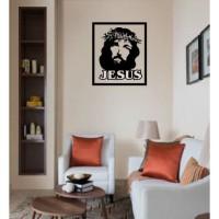 Stiker Cutting Jesus Stiker Dinding kaca R75