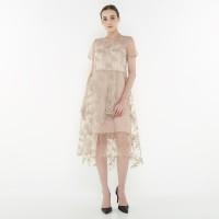 ATELIER MODE Cocktail Dress Overlapping Skirt Casablanca Dress Wanita