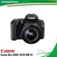 CANON EOS 200D KIT 18-55MM III WIFI - KAMERA CANON EOS 200D + LENSA