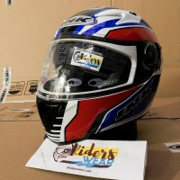 INK - CBR 600 #3 Wh Rd - Full Face   Double Visor   Helm
