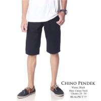 Chino Dc Hitam Pria (Grosir Celana Pendek Murah)