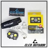 Headlamp USB Sensor Tangan 10ribu Lumens