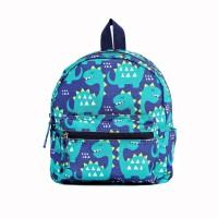 Tas Ransel Anak Backpack Mini Dinosaur NauNau - Blue