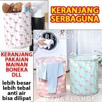 Laundry Bag Lipat - Keranjang Pakaian Baju Kotor Mainan Boneka - Besar