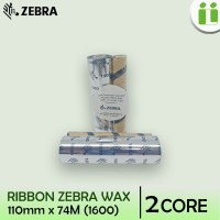 RIBBON BARCODE WAX ORIGINAL ZEBRA 110 MM x 74 M