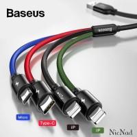 Baseus Kabel Data Rapid Series 4in1 Type C+Micro+2x Lightning 3.5 A