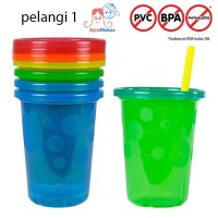 The First Years Take & Toss Spill-Proof Straw Cups - 4pcs