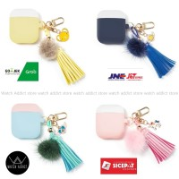 Airpods Case Cover Silicone Protective Cute Tassels Shockproof