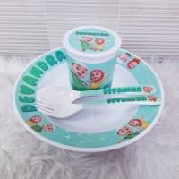 Souvenir Set Alat Makan/Souvenir Ultah/Piring Melamin Custom/Mug Custo