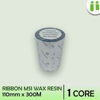 RIBBON BARCODE WAX RESIN MSI 110 MM X 300 M MURAH