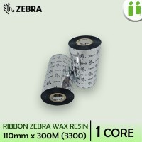 RIBBON BARCODE WAX RESIN ORI ZEBRA 110 MM X 300 M MURAH