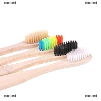 maoting1.ph 4Pcs Colorful Rainbow Soft-Bristle Pure Bamboo Toothbrush