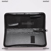maoting1.ph PU Leather Black Shears Storage Box Hairdressing Scissor C