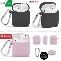 AirPods Case Silicone Protective Shockproof Cover Skin with Keychain