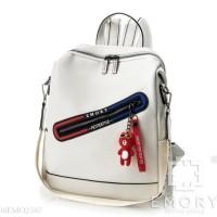 Tas Ransel bepergian dan sekolah. Unik dan GauL - Putih