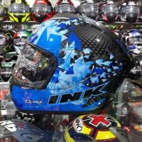 Helm Full Face INK CLMAX Motif 6 Black Blue Fluo