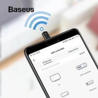Baseus IR Remote Control R03 USB Micro for Samsung Huawei Xiaomi Oppo - Hitam