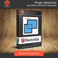 s4u Hide Line Extension SketchUp Original License dan Support