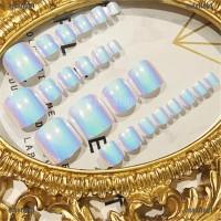 MAORE 24Pcs Kuku Palsu Chic High Quality dengan Kaki untuk Nail Art