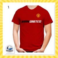 Kaos MU Fans (Bisa Ganti Nama & Nomor Punggung) - Kaos Pria/Custom