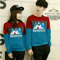 Jaket couple doraemon baju couple Doraemon baju Doraemon couple pakaia