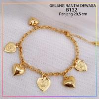 gelang xuping gelang dewasa love channel lapis emas gold B132