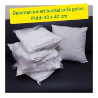 Bantal sofa polos warna putih + bantal dalam