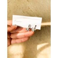 DearMe - AMBER Earrings (925 Sterling Silver & Zirconium Crystals)