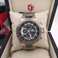 Expedition E6751 Rose Gold rantai Grey Metallic for Men Original