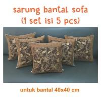 sarung bantal sofa + cover bantal sofa + 1 set isi 5 pcs