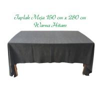Taplak makan persegi panjang ukuran 150x280cm / cgn hitam
