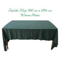 Taplak makan persegi panjang ukuran 150x274cm / cgn hijau