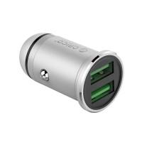 Carger Mobil USB 2port 2.1A & 1A ORICO UPI-2U Bisa ACCU 12 & 24V