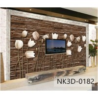 Wallpaper Custom Bunga 3d- Wallpaper Dinding Custom Murah